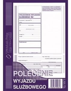 POLECENIE WYJAZDU SŁUŻBOWEGO A5 505-3 -42