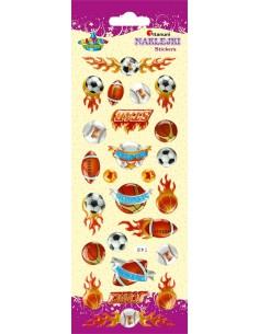 Naklejki do dekoracji sportowe 6x28 cm