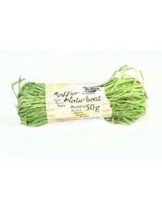 Sznurek Rafia naturalna dekoracyjna- jasno zielona 50 g