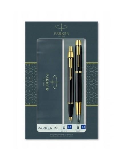 Komplet PARKER długopis + pióro wieczne czarny