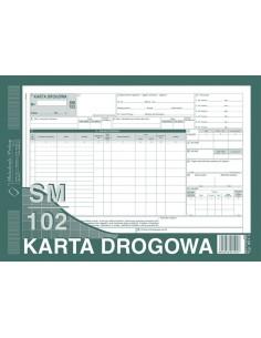 KARTA DROGOWA SM/102 (SAMOCHÓD CIĘŻAROWY) A4 801-1-29