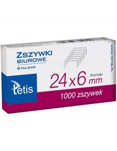 Zszywki biurowe 24/6 101-A TETIS-722