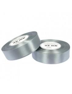 12mm WS8136 Wstążka satynowa srebrna 32mb-5713