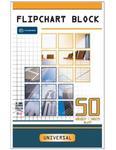 Blok do flipchartów kratka 50arkuszy INT-3429