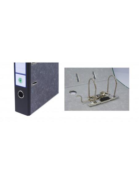 Segregator dźwigniowy A4 75mm marmurek grzbiet czarny EKOBOX 20szt.