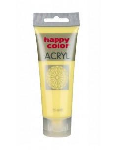 Farba akrylowa 75ml żółta pastelowa Happy Color