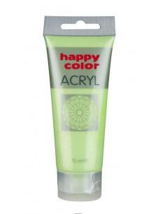 Farba akrylowa 75ml zielona pastelowa Happy Color
