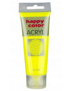 Farba akrylowa 75ml żółta fluo Happy Color