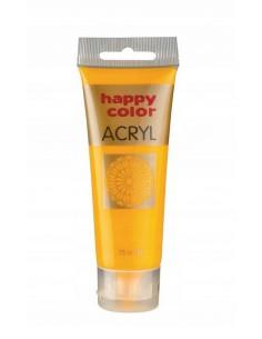 Farba akrylowa 75ml ciemno żółta Happy Color