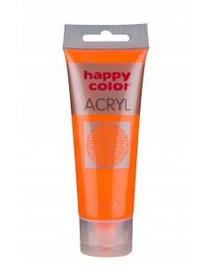 Farba akrylowa 75ml fluo pomarańczowa  Happy Color