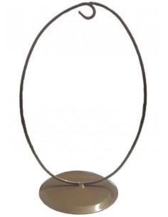 Stojak metalowy jajko 21x14,5 cm podstawa 10cm