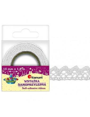Fabric Tape Koronka ozdobna biała D12-1