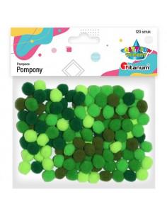 Pompony poliestrowe zielone...