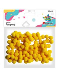 Pompony poliestrowe żółte...