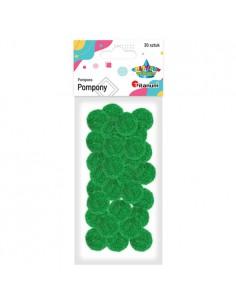 Pompony akrylowe zielone...