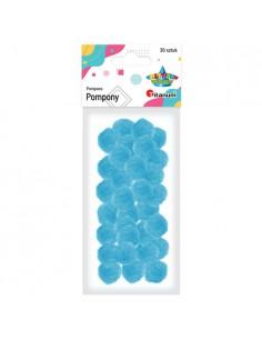 Pompony akrylowe niebieskie...