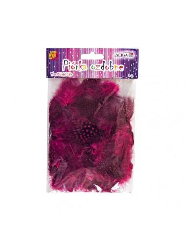 Piórka nakrapiane różowe (PN-09) 3g
