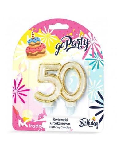 Świeczki urodzinowe w kształcie 50...