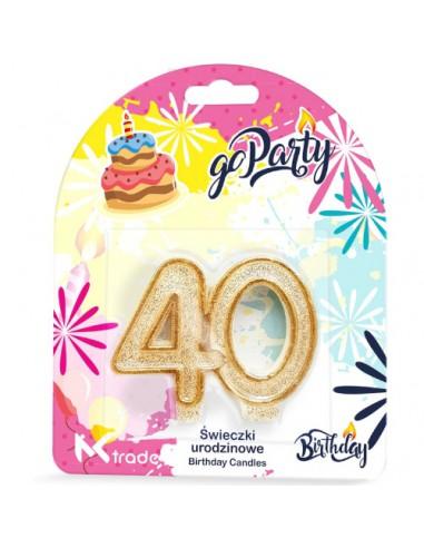 Świeczki urodzinowe w kształcie 40...