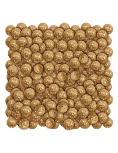 Dekoracja kulki brokatowe złote 20g