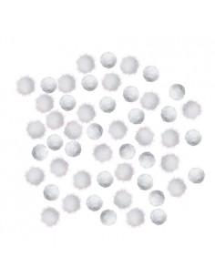 Pompony akrylowe białe i...