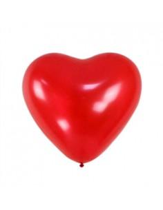 Balony serca 5 szt. czerwone