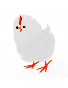 Kurczak Wielkanocny biały 4 cm