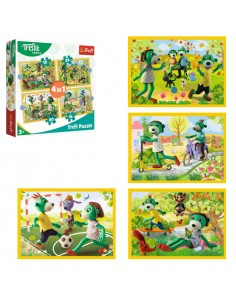 Puzzle 4w1 Wspólne zabawy...