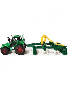 Traktor zabawka z kultywatorem
