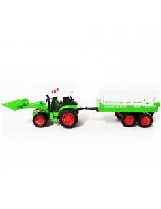 Traktor koparka z przyczepą