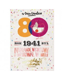 Karnet urodziny 80